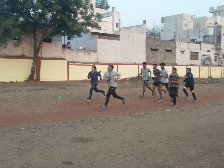 Students Running on Track